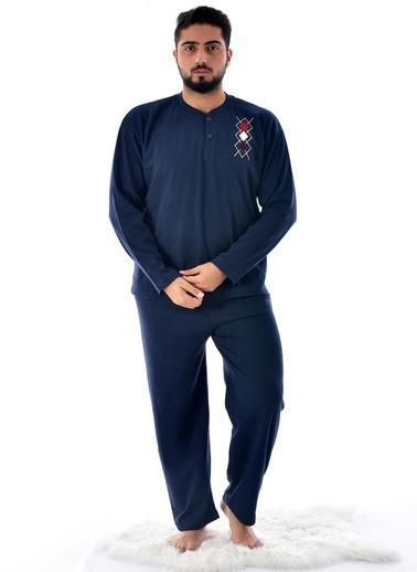 Pemilo Erkek 2045 Kışlık Pijama Takımı FÜME Lacivert